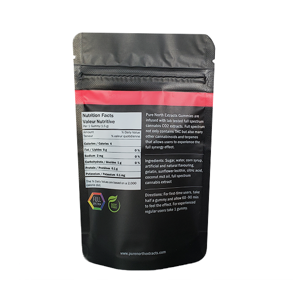 PNE Full Spectrum Gummies - SATIVA/Strawberry - 150mg THC