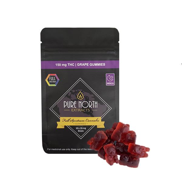 PNE Full Spectrum Grape Gummies -150mg THC