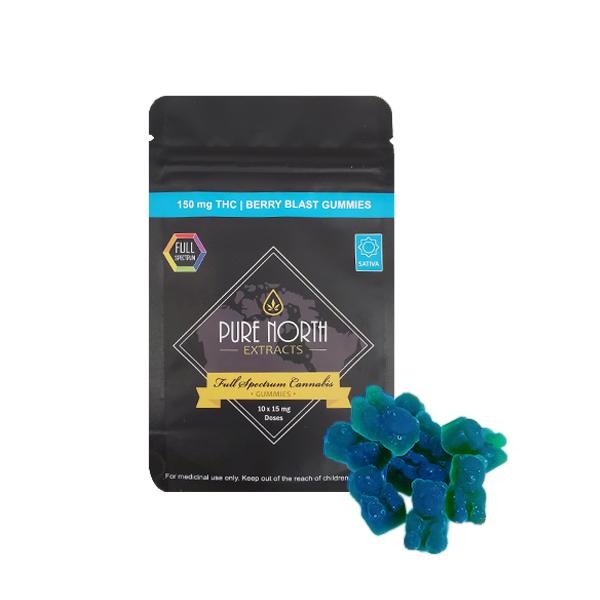 PNE Full Spectrum Gummies - SATIVA/Berry Blast - 150mg THC