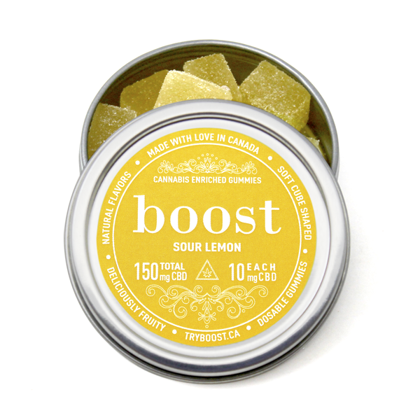 Boost Gummies - Sour Lemon Gummies CBD
