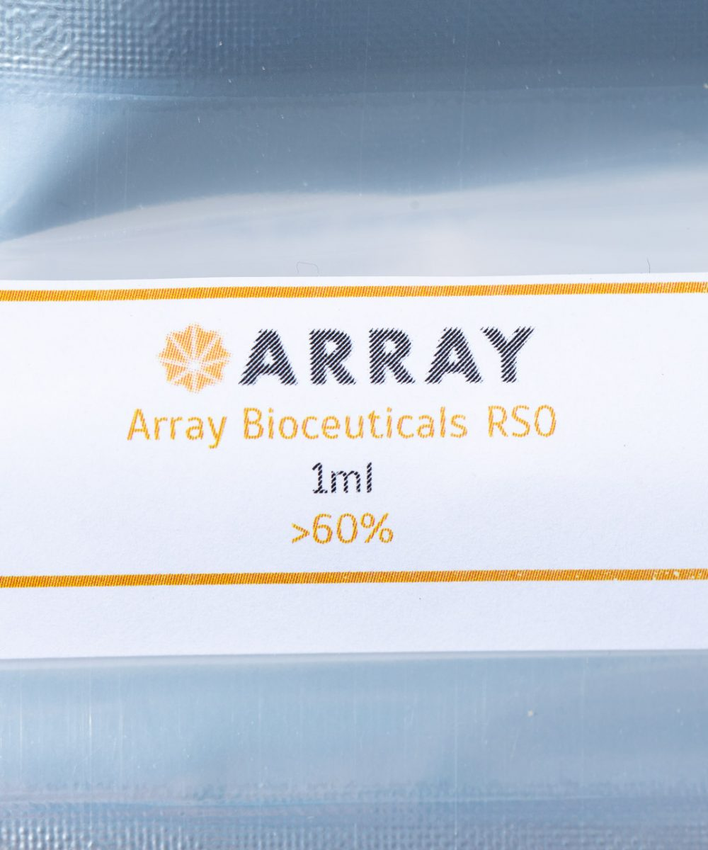 Array Bioceuticals RSO Syringe 69.2% THC 1ML