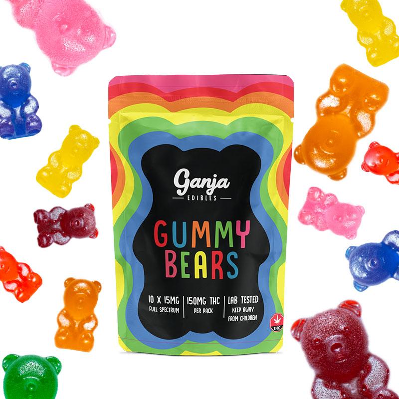 Ganja Bears Gummies - 10 x 15mg THC (150mg Lab Tested)