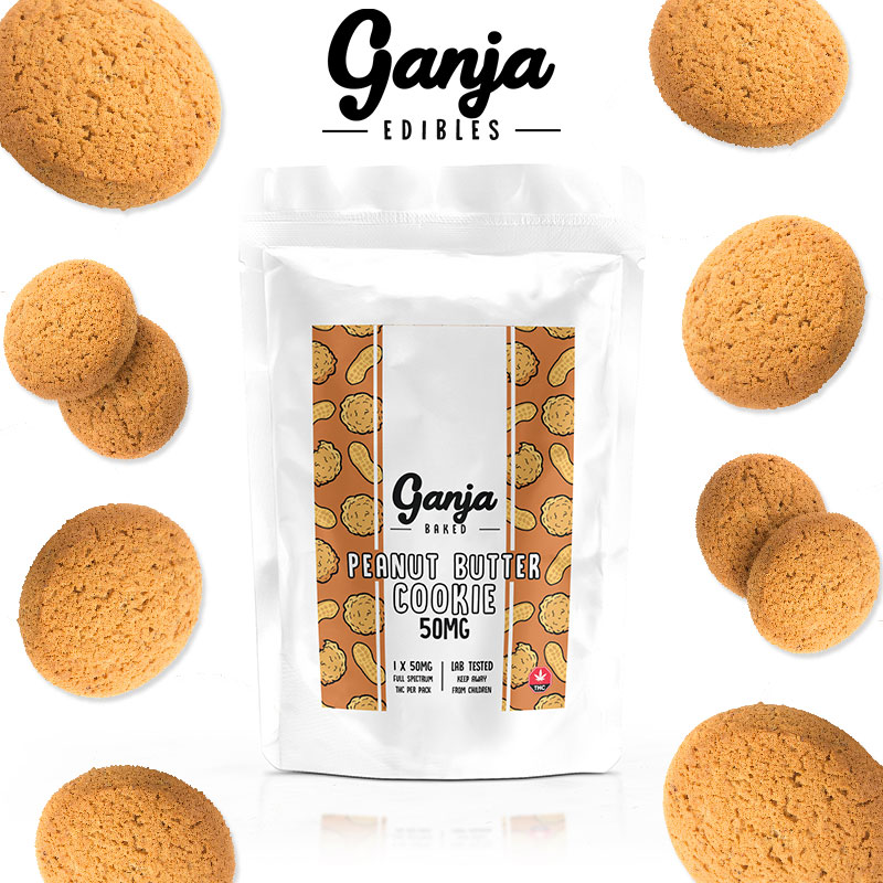Ganja Baked - Peanut Butter Cookie 50mg