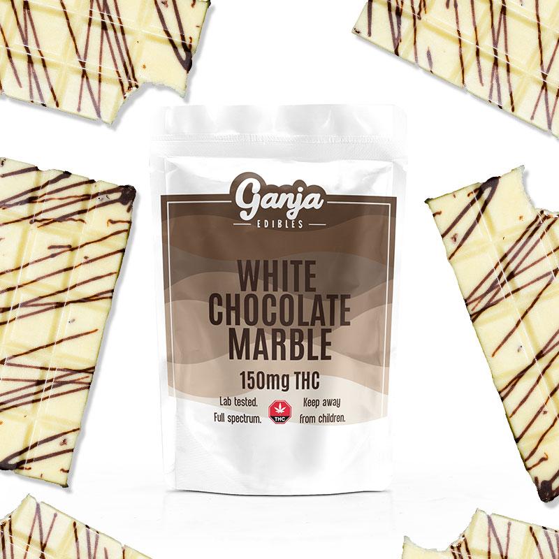 Ganja Baked - White Chocolate Marble 150mg THC