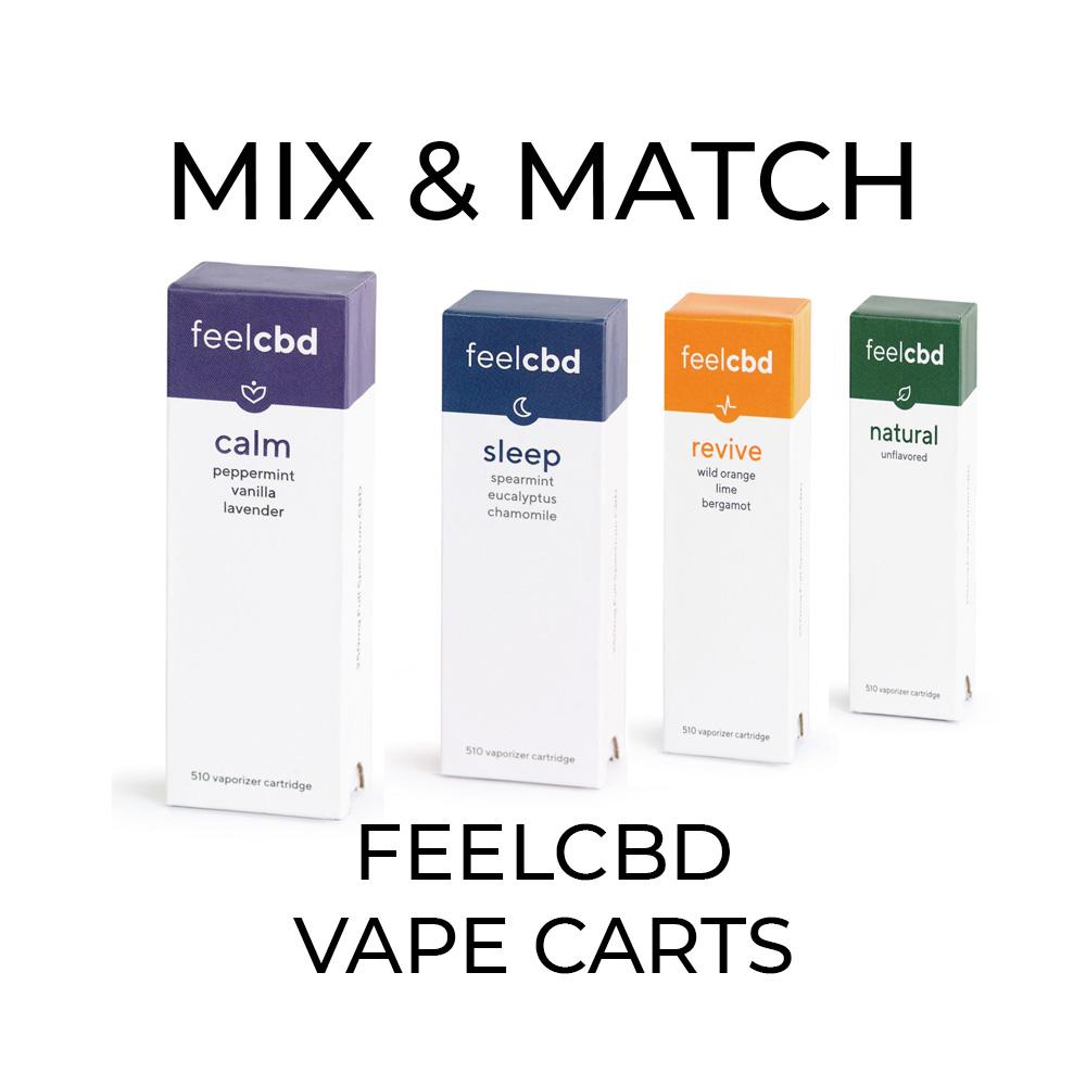 5 Pack FeelCBD Vape Cart - Mix and Match