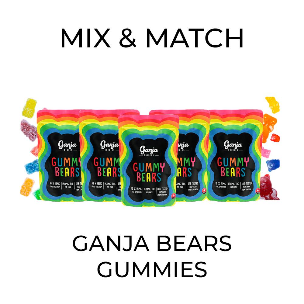 5 Pack Ganja Bear Gummies - Mix and Match