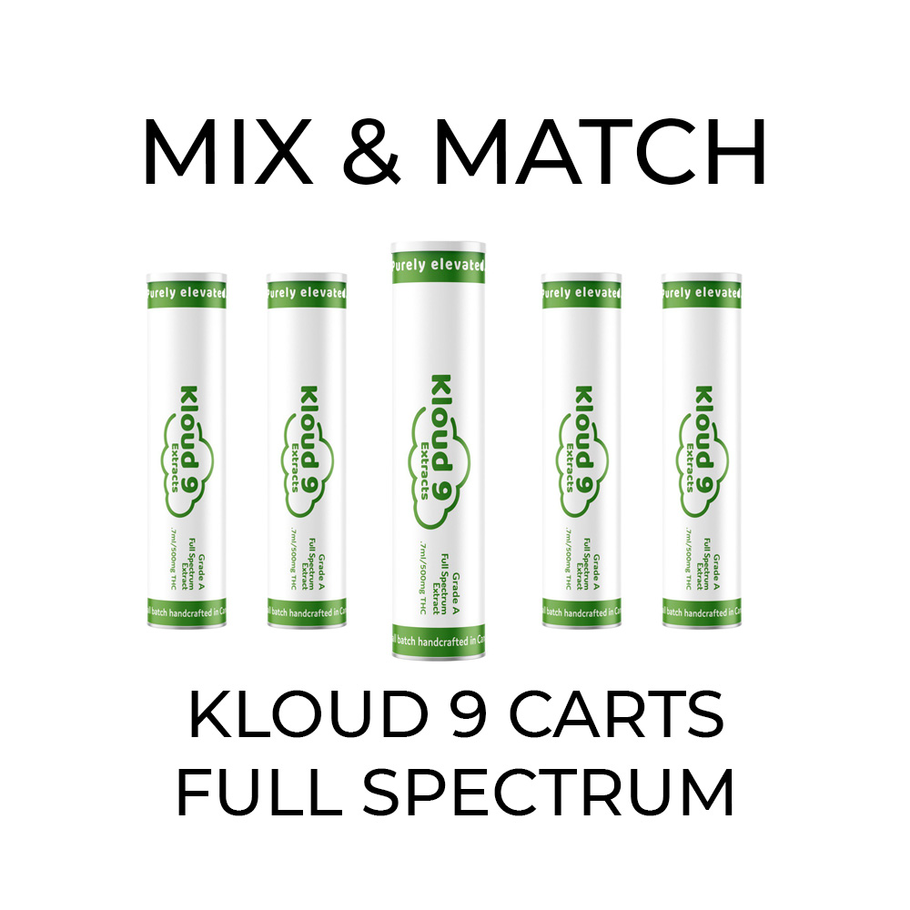 5 Pack Kloud 9 Full Spectrum Cartridges - Mix and Match