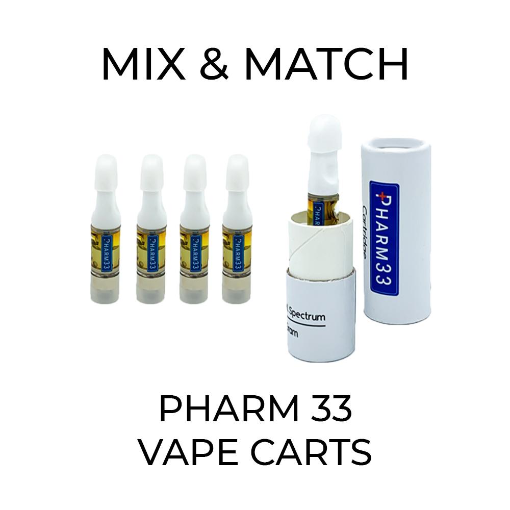 5 Pack Pharm 33 Vape Cart - Mix and Match