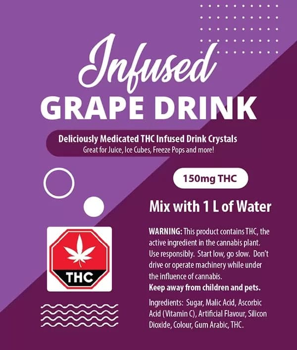Grape Drink Crystals - 150mg THC