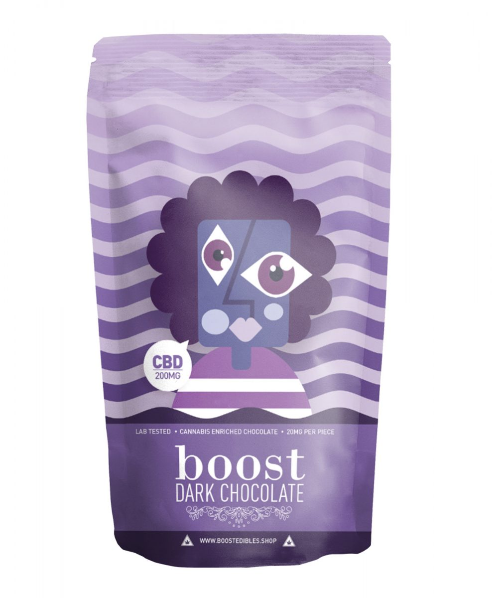Boost Dark Chocolate Pack - CBD 200mg