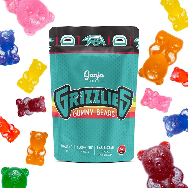 Grizzlies – Regular Gummy 350mg THC