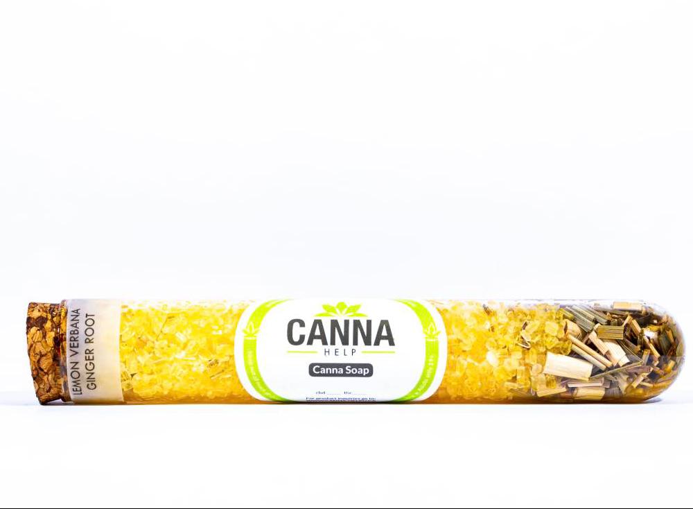 Canna Help - Bath Crystals Lemon Verbana and Ginger Root