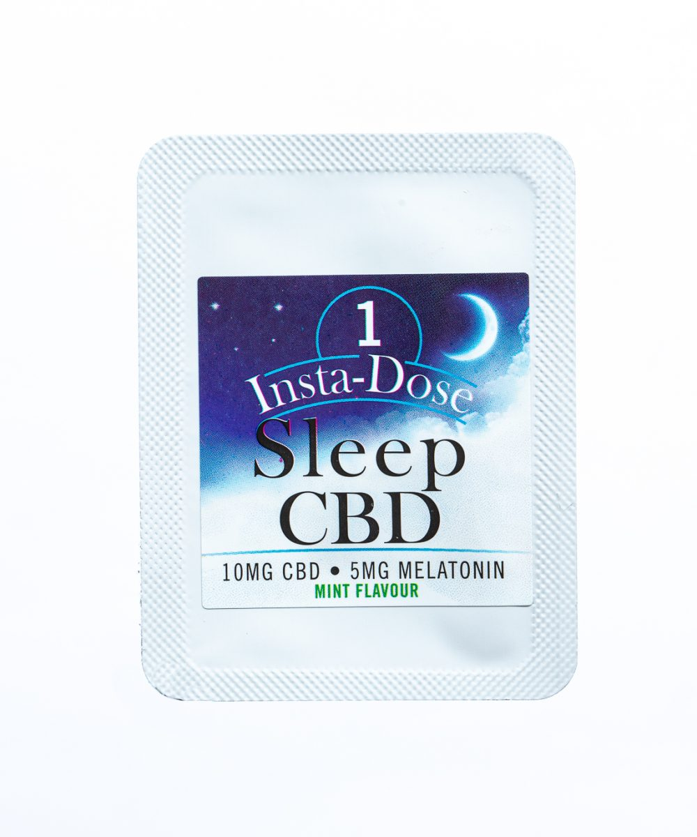 Insta-Dose: Sleep CBD Mint Strips (50mg CBD / 25mg Melatonin)