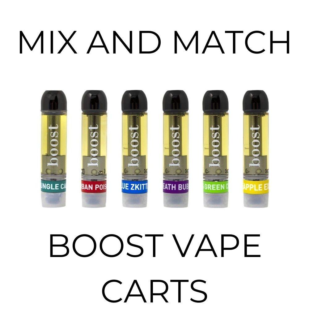 5-Pack Boost Vape Cartridges - Mix and Match