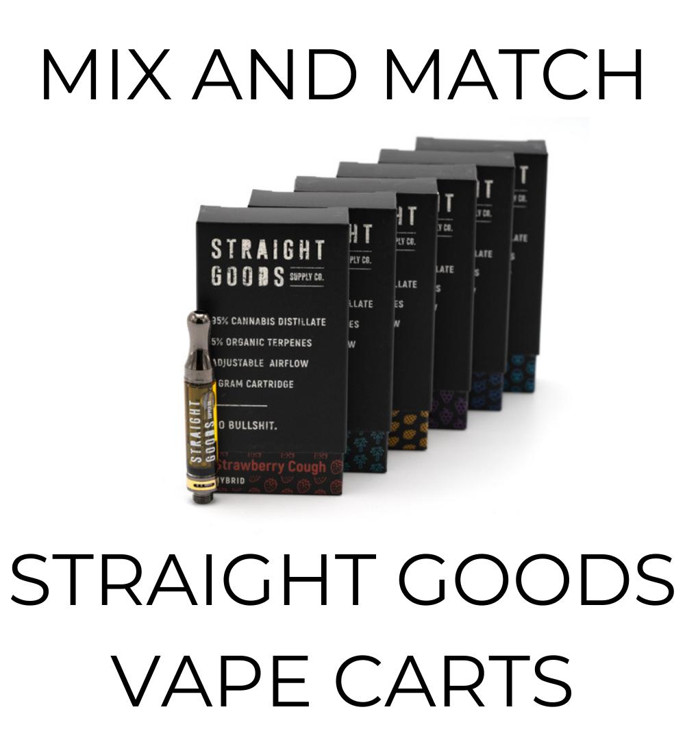 5-Pack Straight Goods Vape Cartridges - Mix and Match