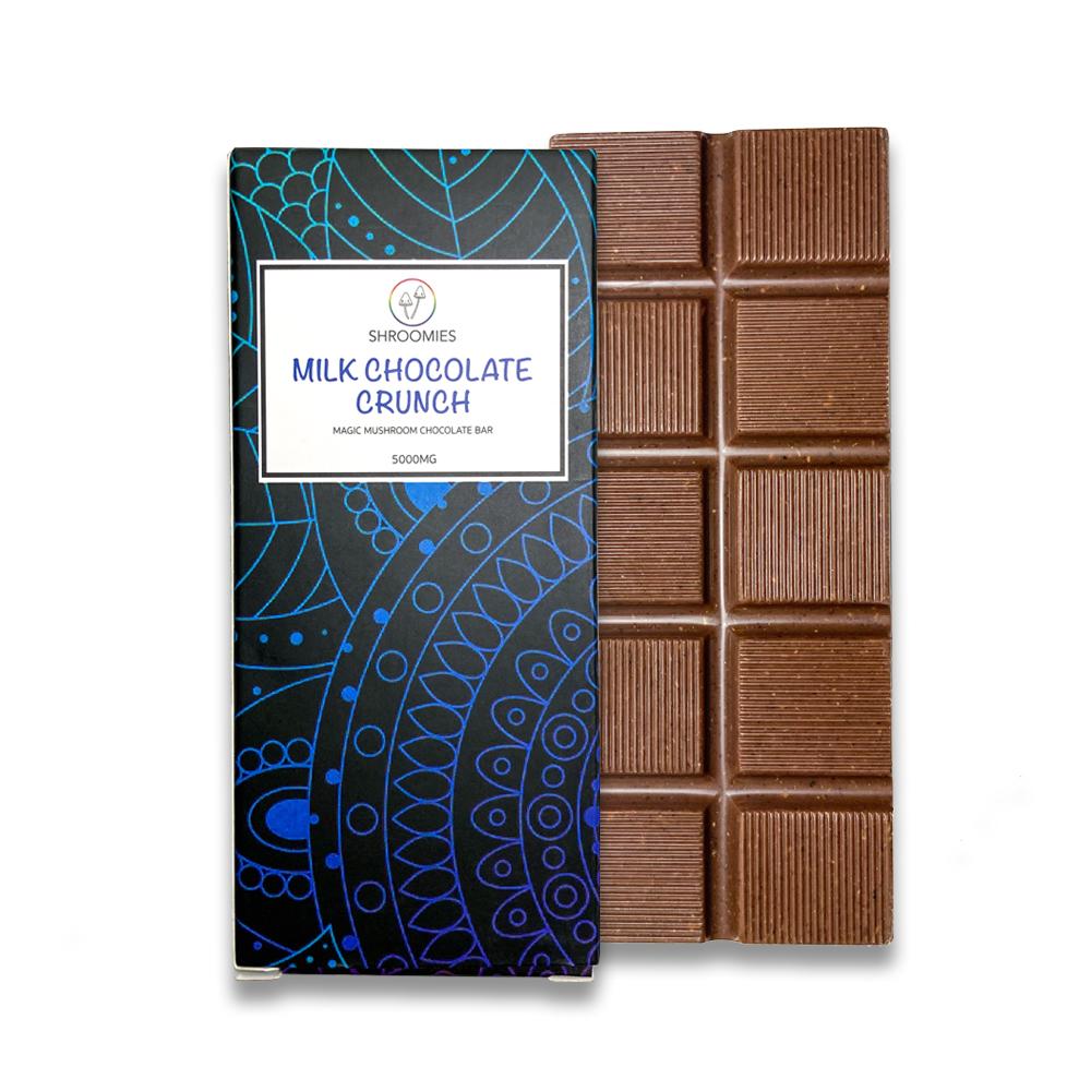 Shroomies - Magic Mushroom Chocolate Bar - Milk Chocolate Crunch 5000mg