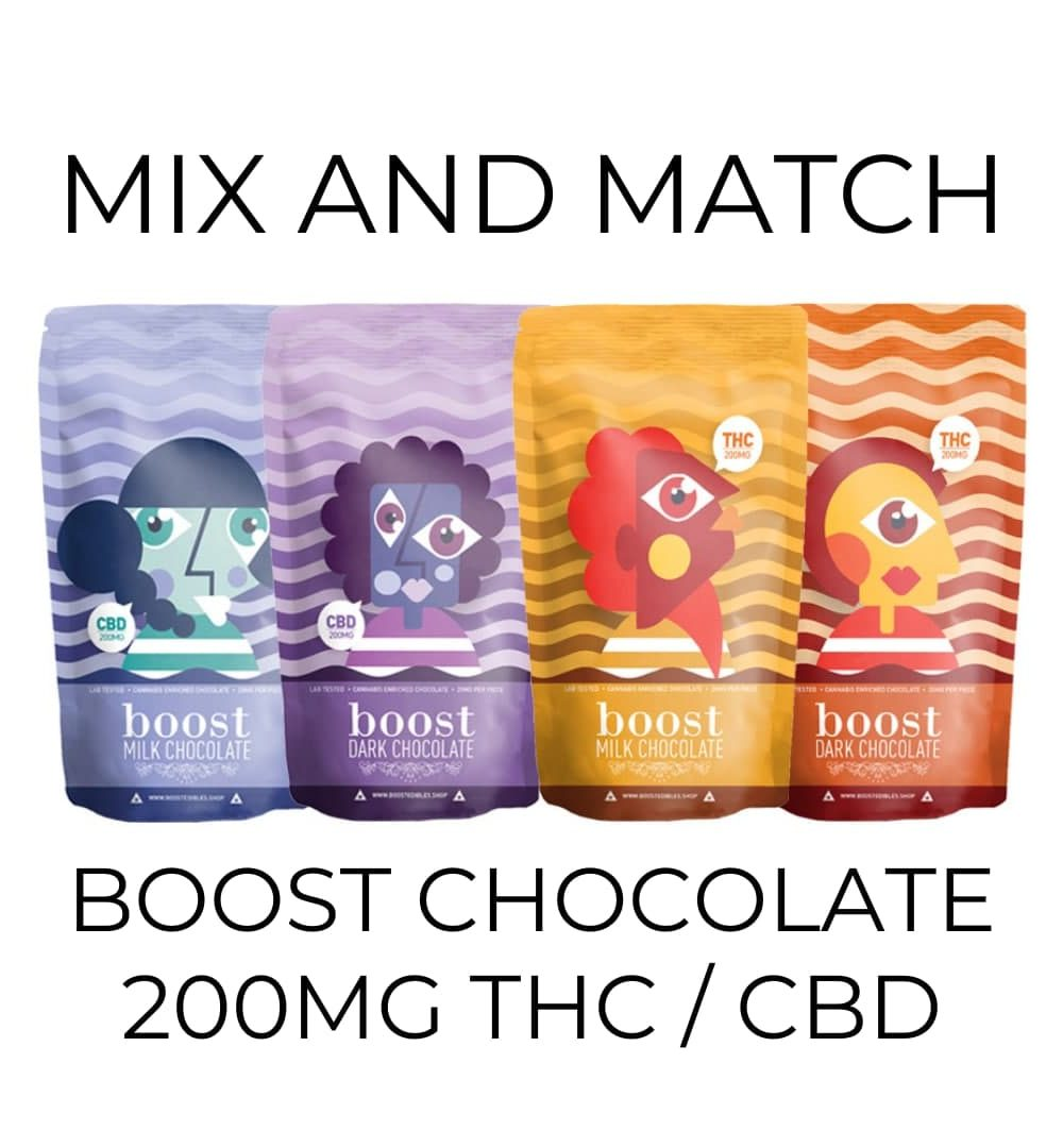 5-Pack Boost Chocolate 200mg - Mix and Match