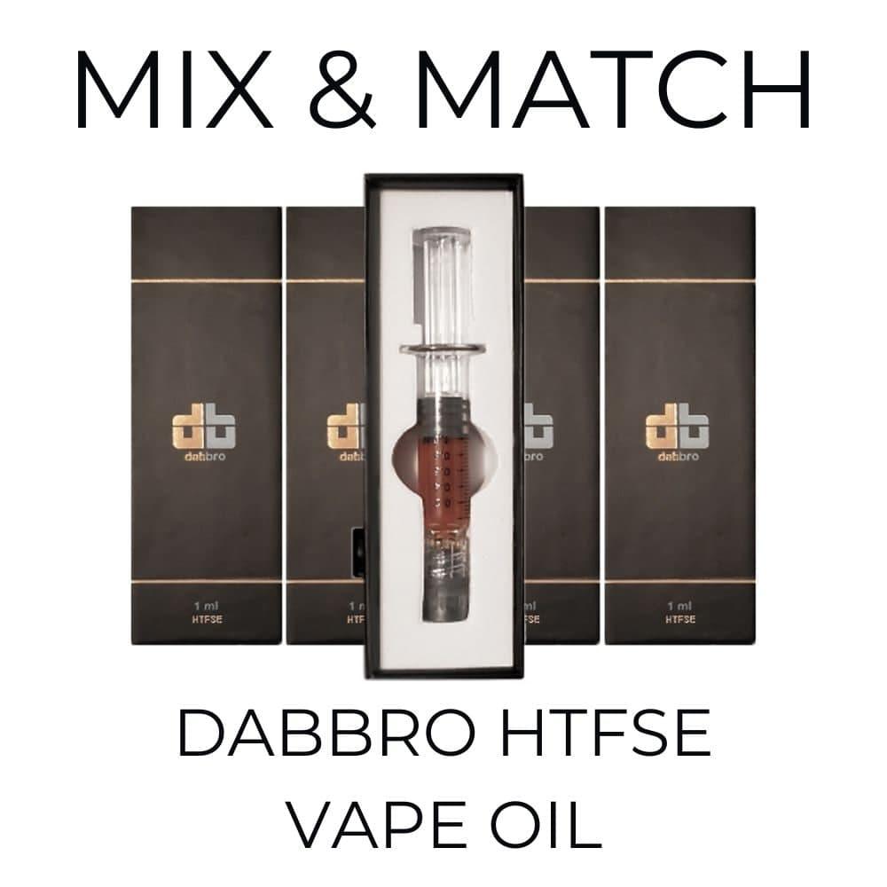 5-Pack Dabbro HTFSE Syringe - Mix and Match