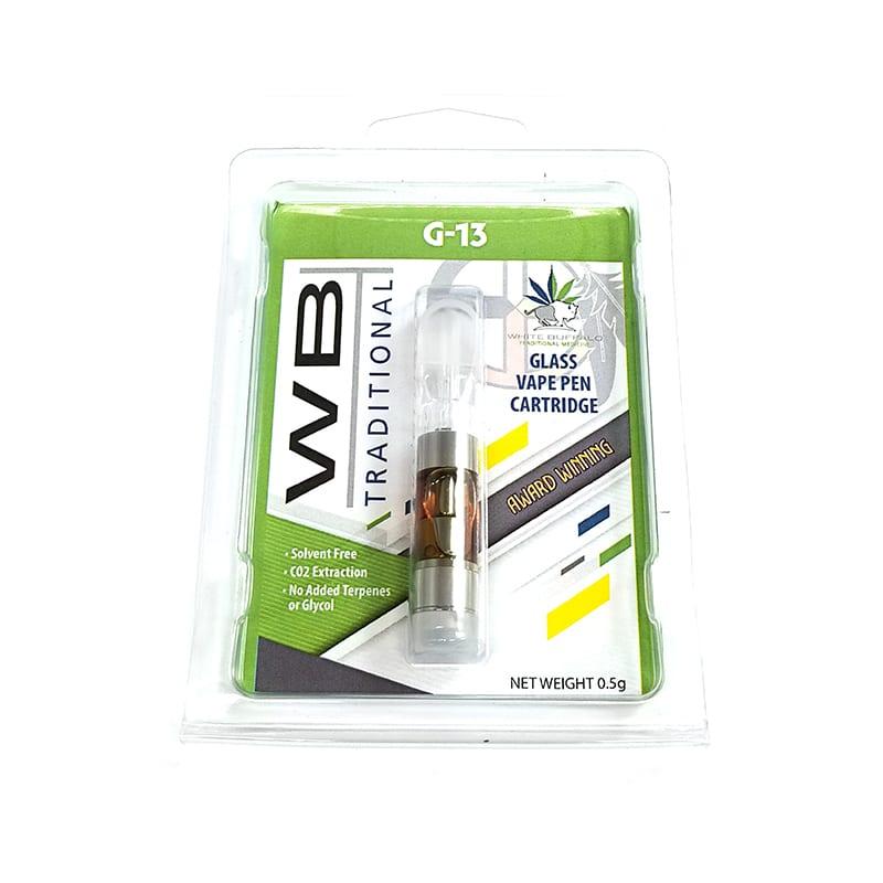 White Buffalo Cartridge - G-13 Indica