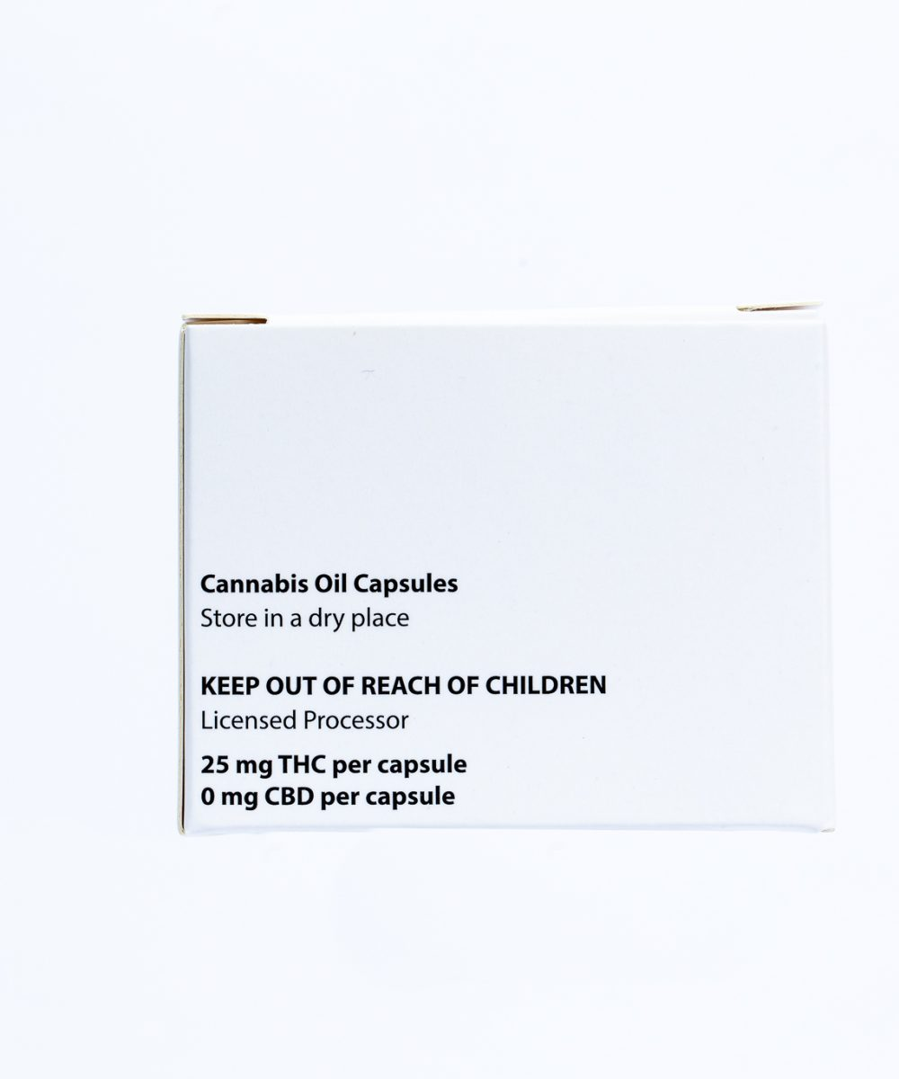 Natures Pharmacy : THC Oil Capsules 10x25mg