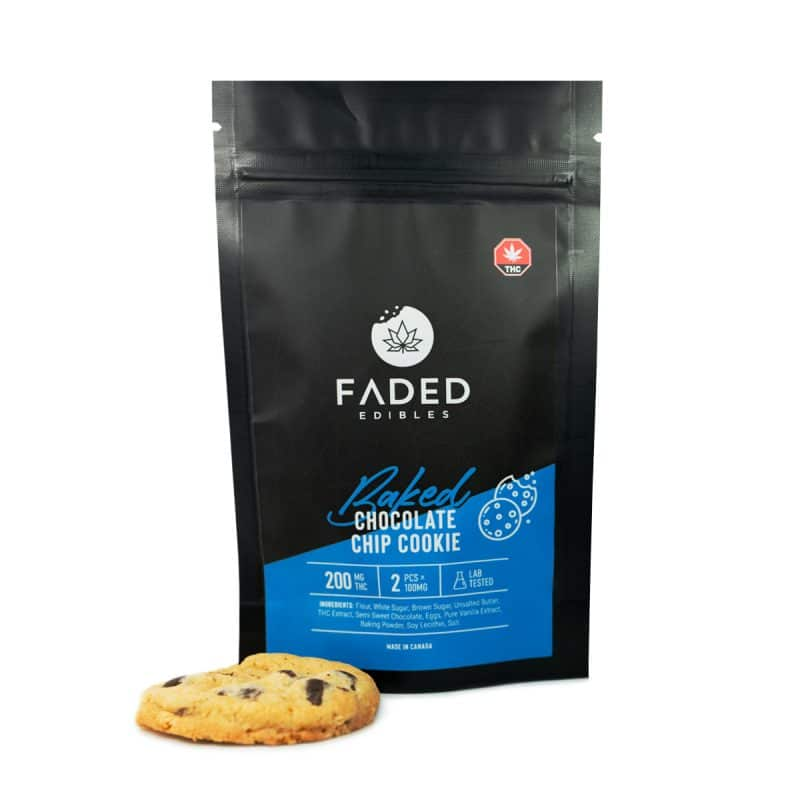FADED Edibles Baked - Chocolate Chip Cookies 200mg THC