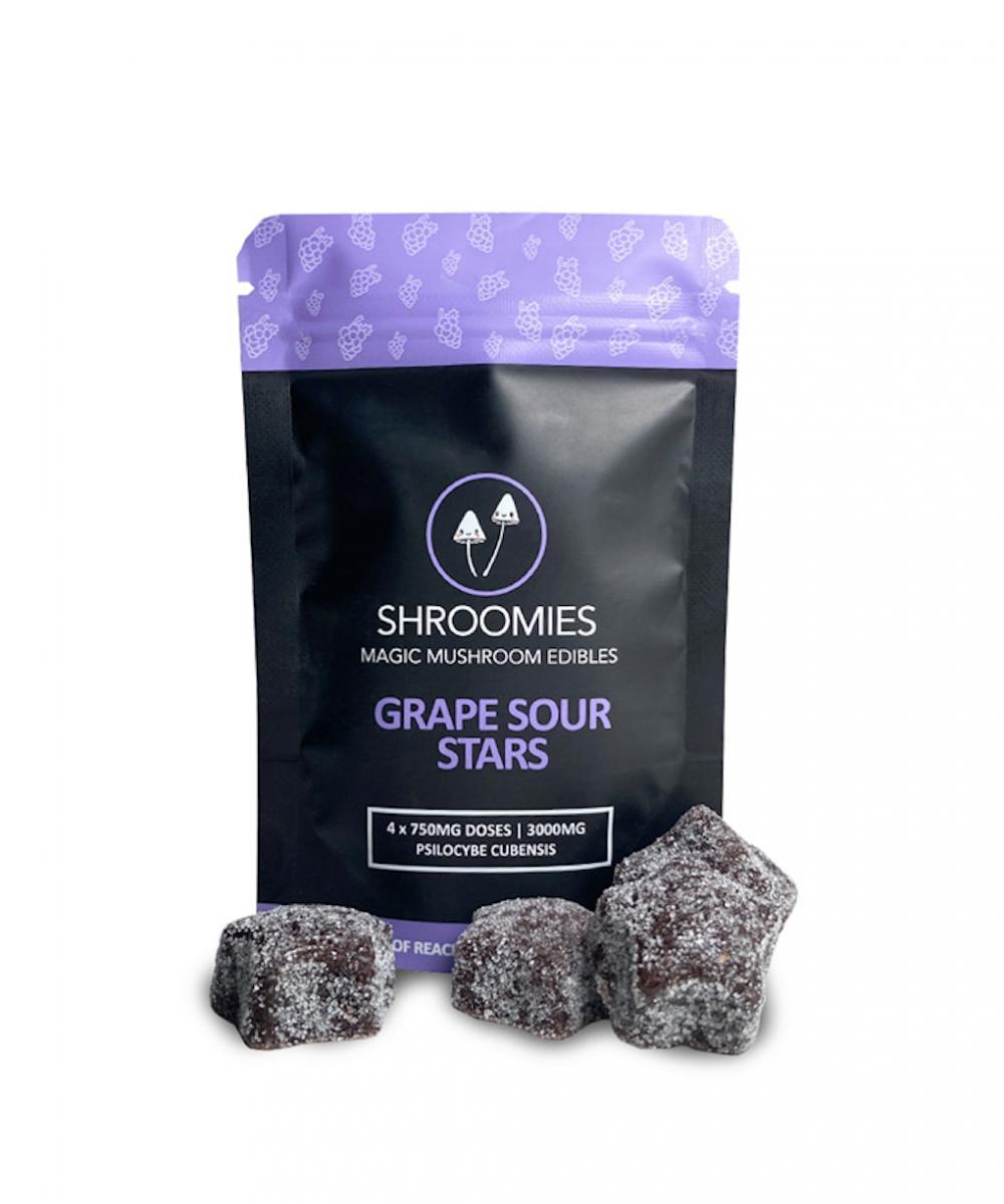 Shroomies - Grape Sour Stars (3000mg)