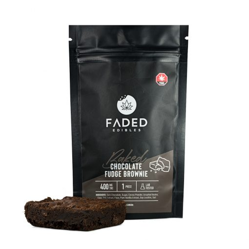 FADED Edibles Baked - Chocolate Fudge Brownie 400mg THC