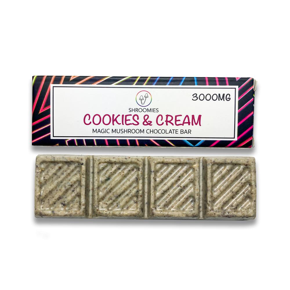 Shroomies - Cookies and Cream Chocolate Bar (3000mg)