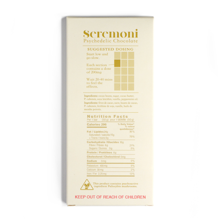 Seremoni: Psilocybin Chocolate Bar (3000mg)