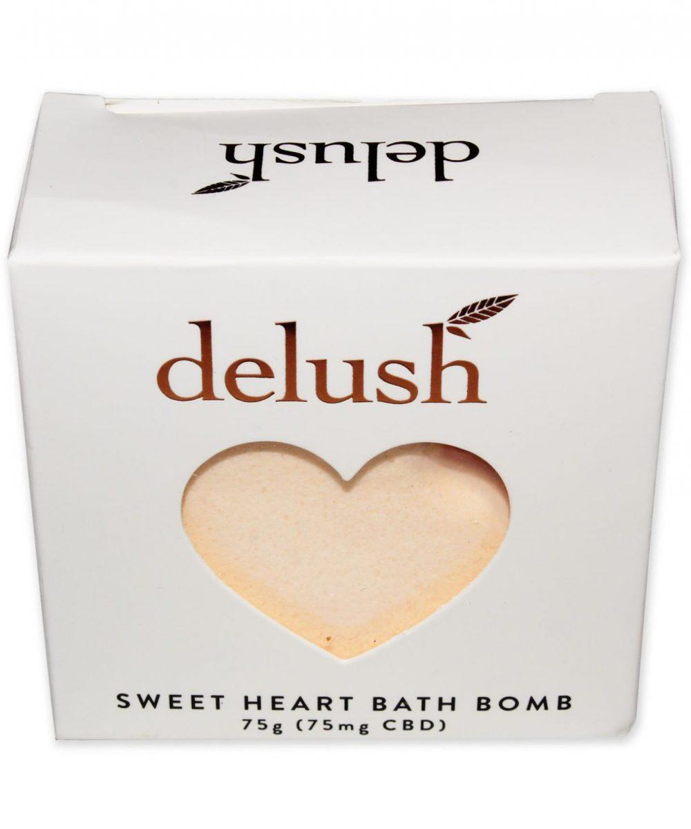 Delush - 75mg CBD Sweet Heart Bath Bomb