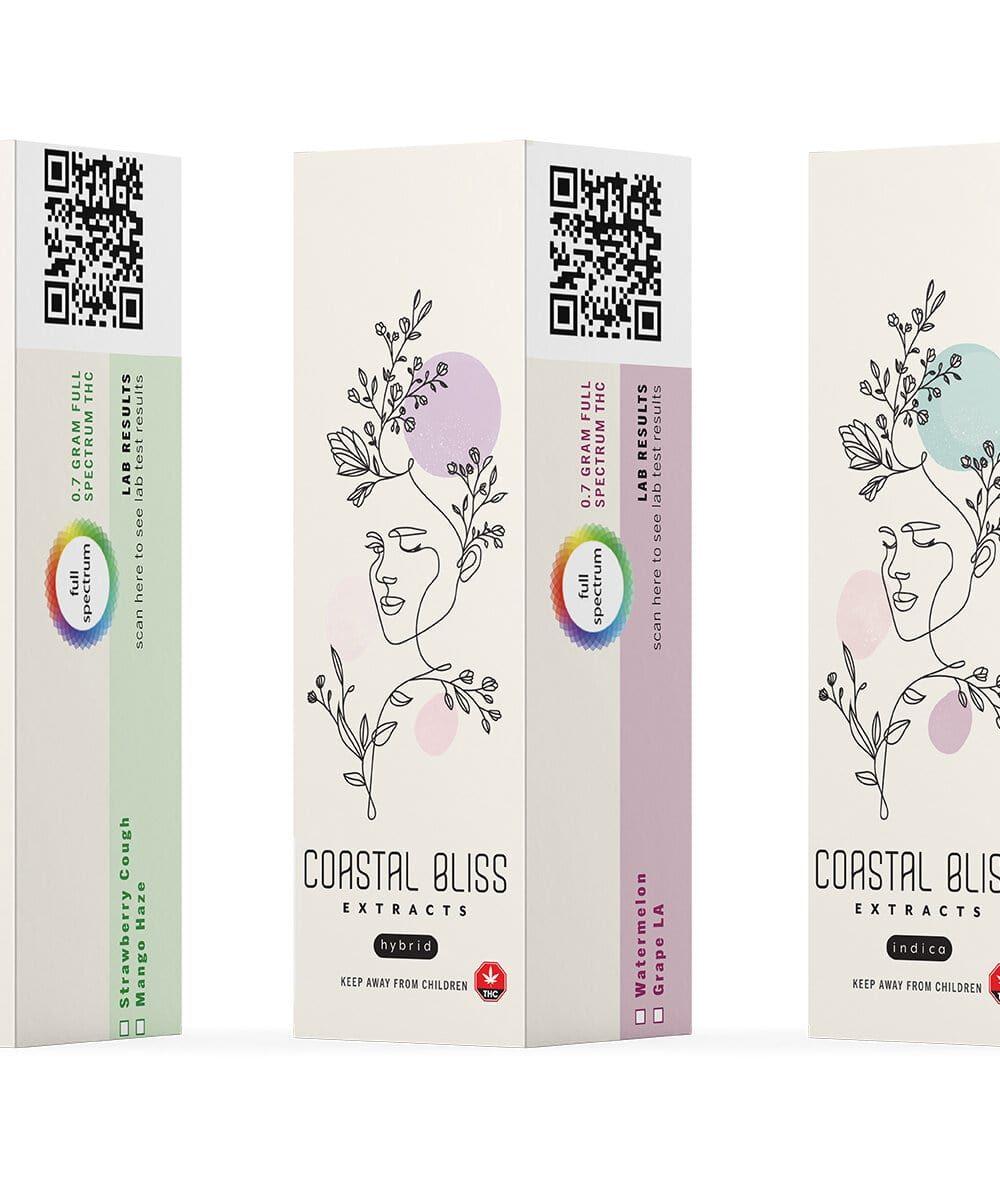 Coastal Bliss Extracts - HTFSE Vape Cartridge (0.7g THC)