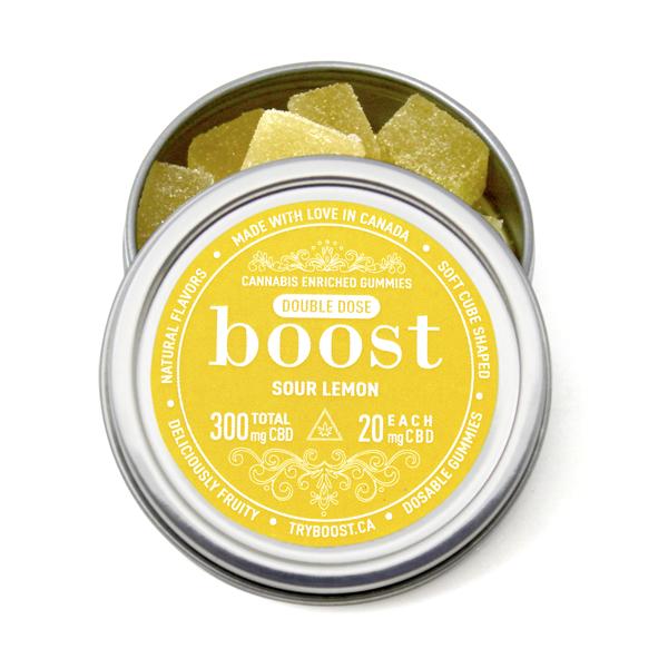 Boost Gummies - Sour Lemon Gummies CBD