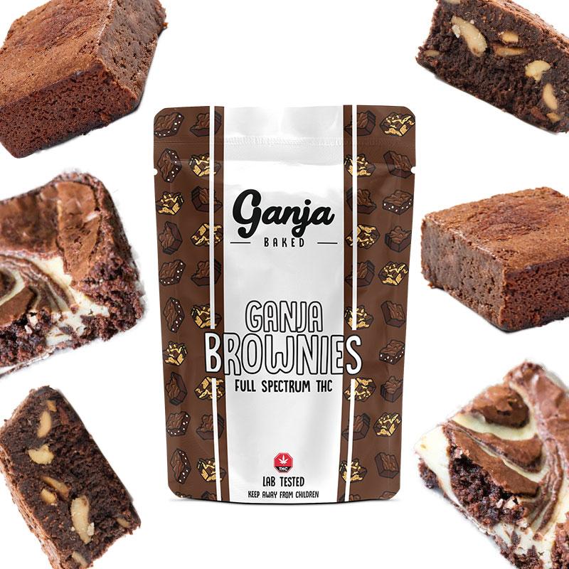 Ganja Baked - White Chocolate Chip Brownie 400mg