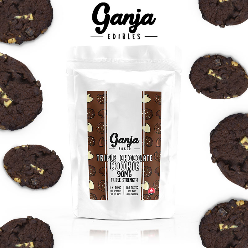 Ganja Baked - Triple Chocolate Cookie 90mg THC