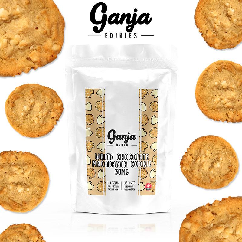Ganja Baked - White Chocolate Macadamia Cookie - 30mg